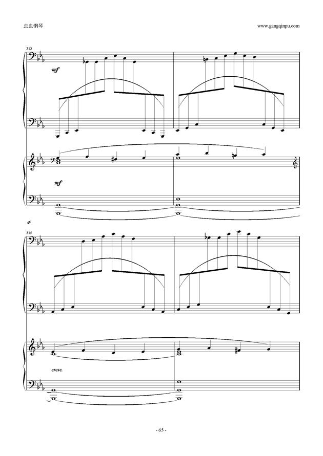 拉赫玛尼诺夫第5钢琴协奏曲钢琴谱 第65页
