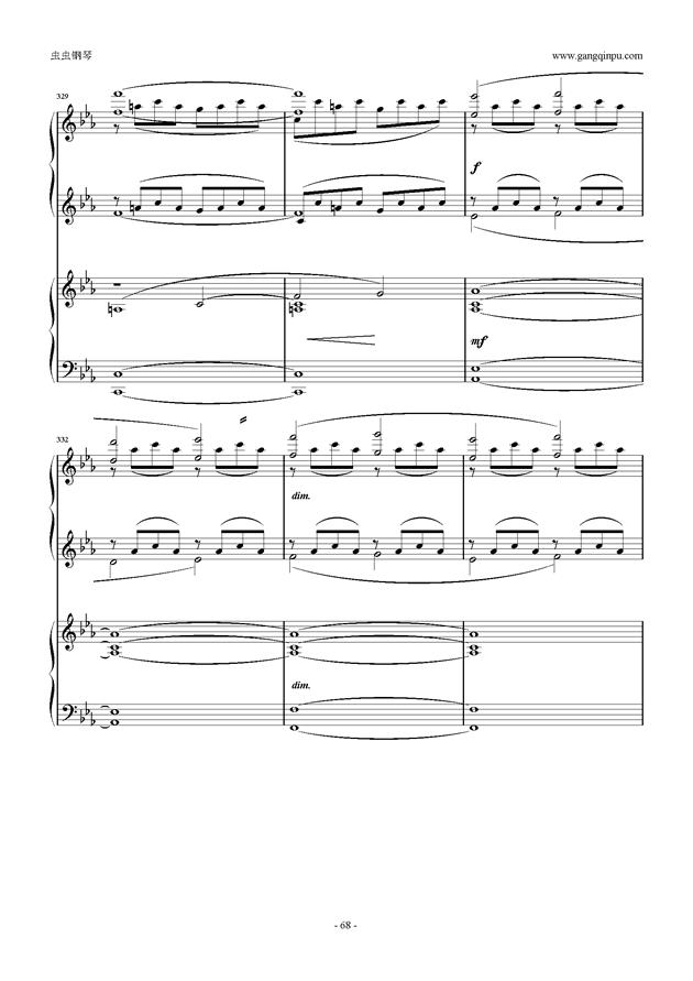 拉赫玛尼诺夫第5钢琴协奏曲钢琴谱 第68页