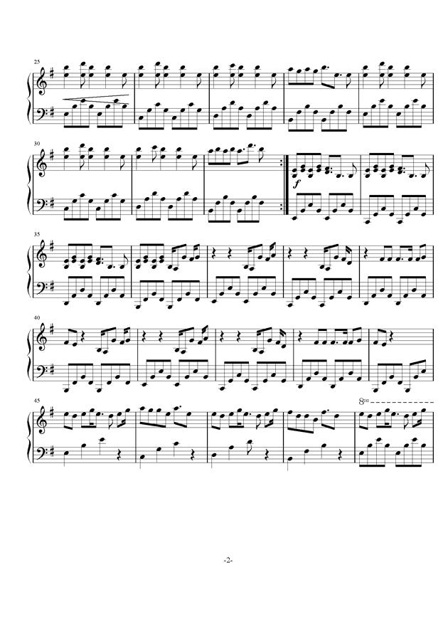 核爆神曲ALIEZ钢琴谱 第2页