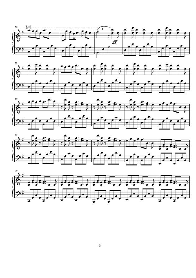 核爆神曲ALIEZ钢琴谱 第3页