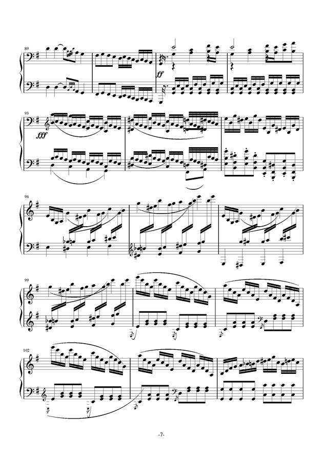 G大调奏鸣曲钢琴谱 第7页