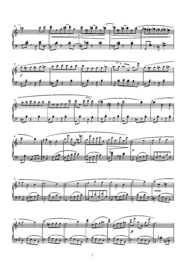 琴键上的游乐园钢琴谱 第2页