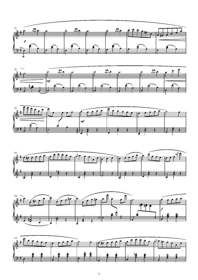 琴键上的游乐园钢琴谱 第3页