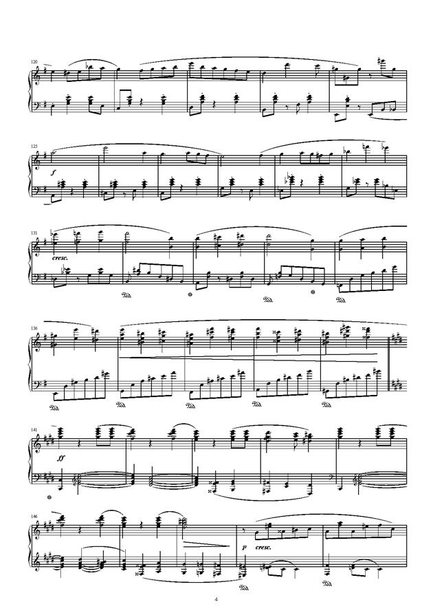 琴键上的游乐园钢琴谱 第4页