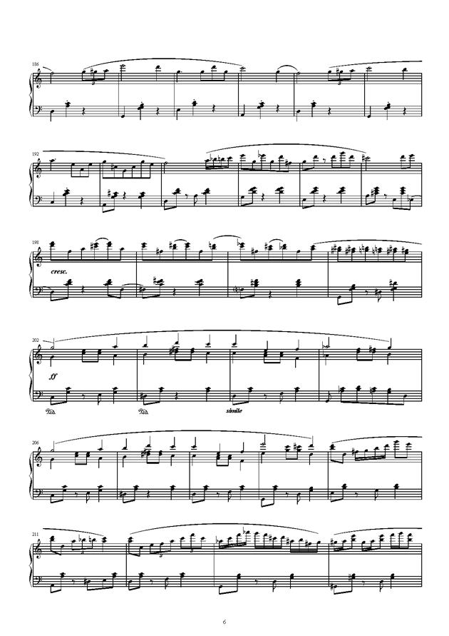 琴键上的游乐园钢琴谱 第6页