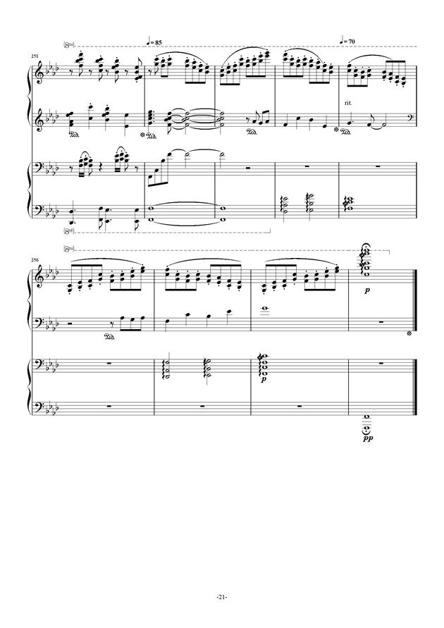 鲜花在开放曲谱-钢琴谱 冬 四手联弹