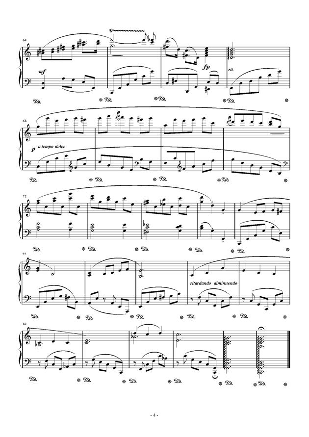 钢琴小品 Op.8 No.1钢琴谱 第4页