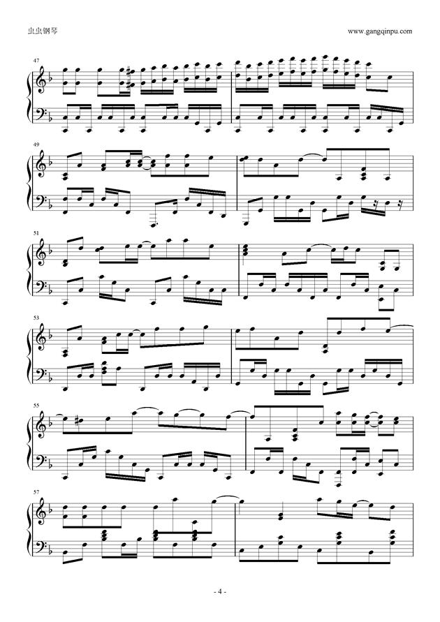 小幸运钢琴谱 第4页
