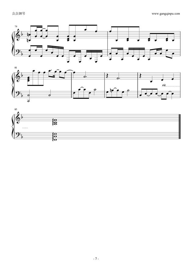 小幸运钢琴谱 第7页