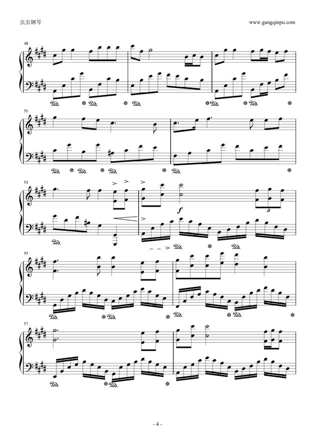 腐草为萤钢琴谱 第4页