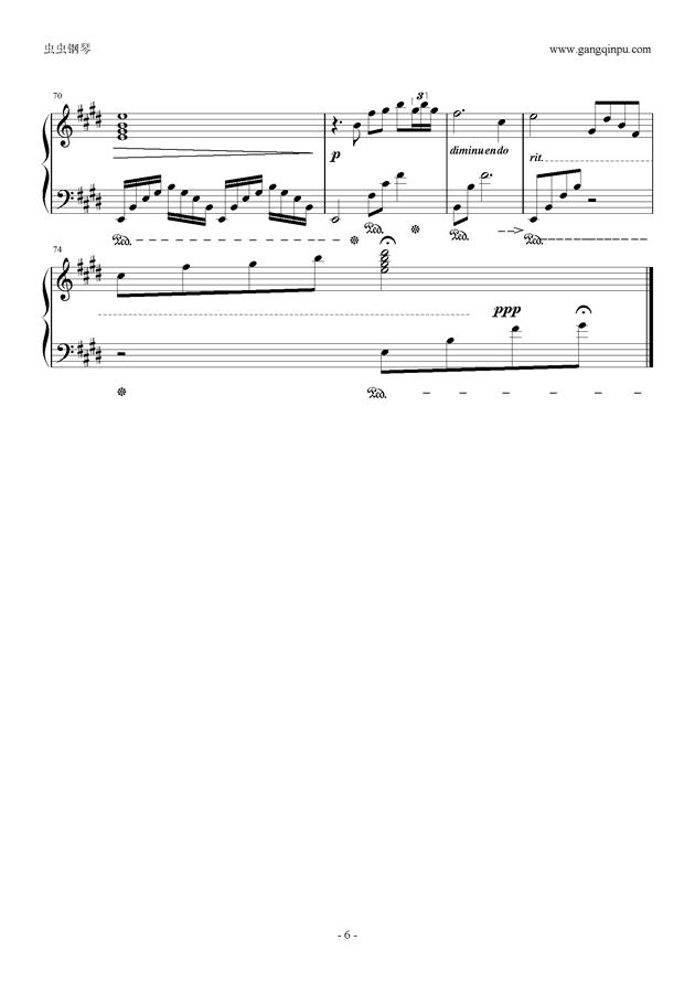 腐草为萤钢琴谱 第6页