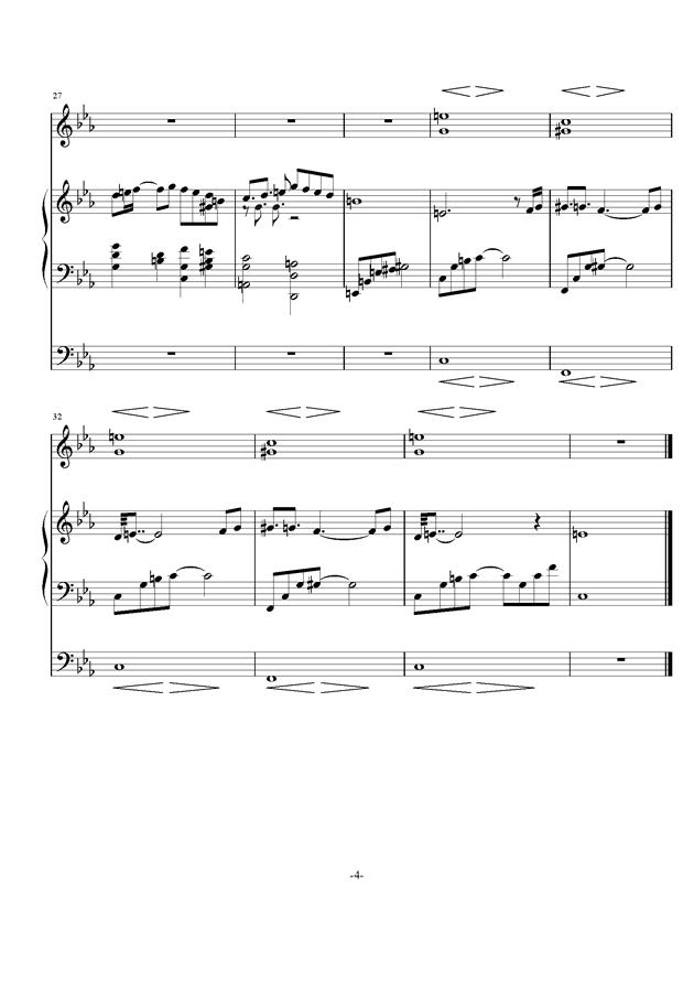 庸才日记 NO.3钢琴谱 第4页