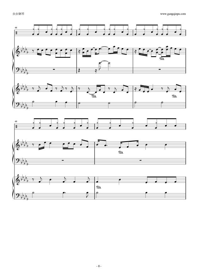 Luv letter 总谱 ,Luv letter 总谱 钢琴谱,Luv letter 总谱 钢琴谱网,Luv