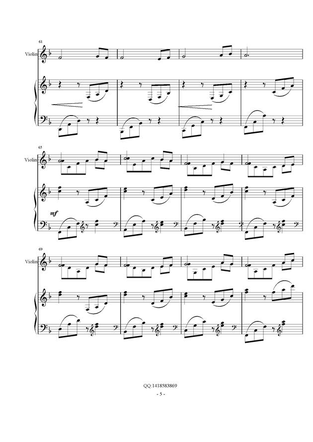 d小调幻想曲钢琴谱 第5页