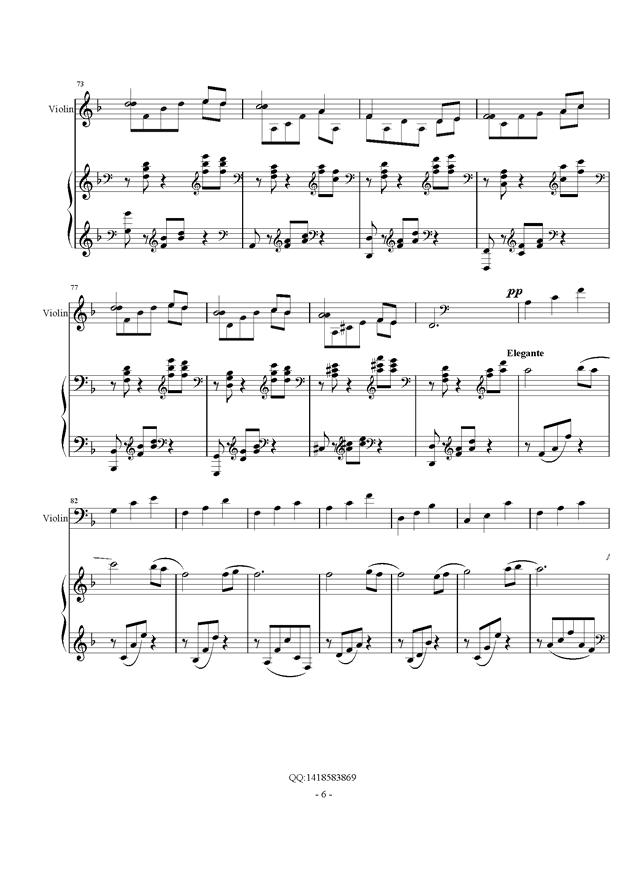 d小调幻想曲钢琴谱 第6页