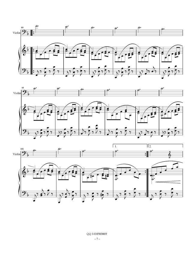 d小调幻想曲钢琴谱 第7页