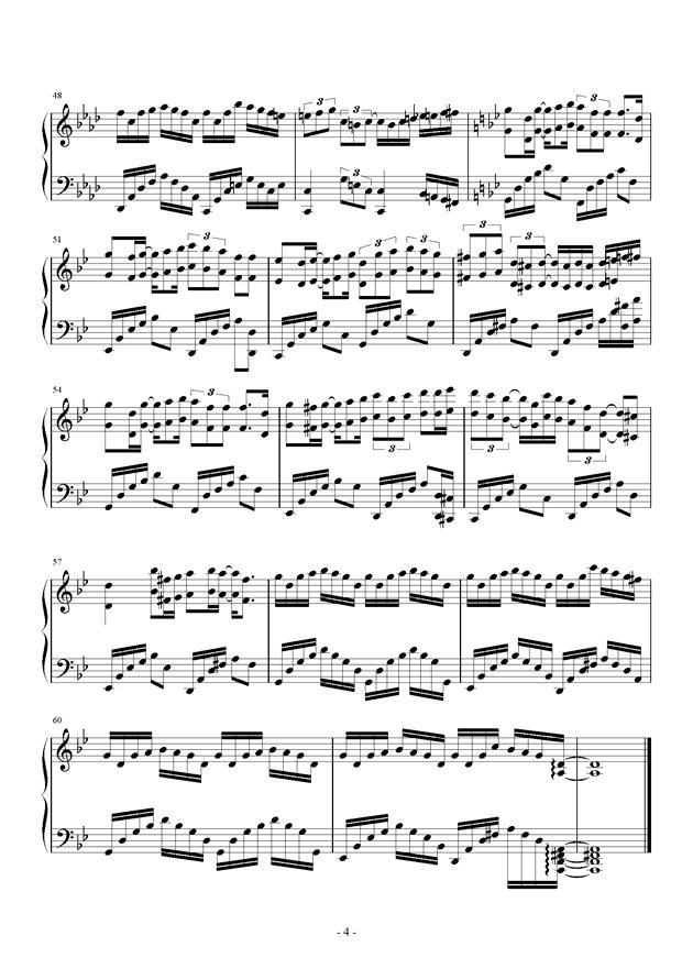 妲己之殇钢琴谱 第4页