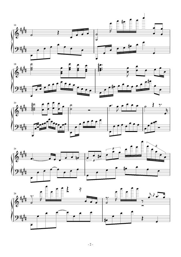 强颜微笑钢琴谱 第2页