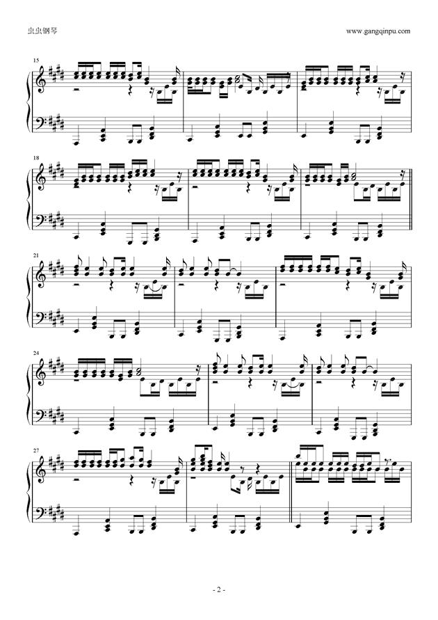 轻飘飘钢琴谱 第2页