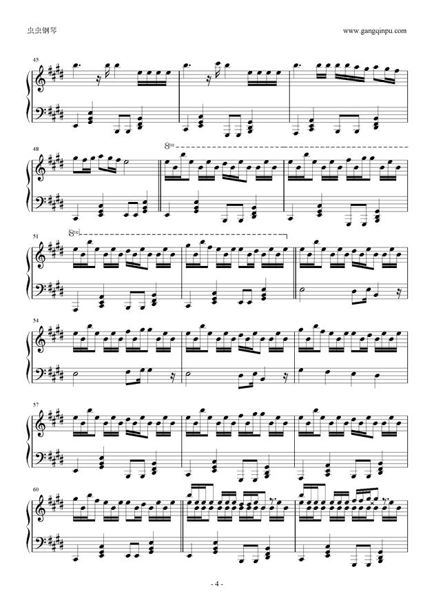轻飘飘钢琴谱 第4页