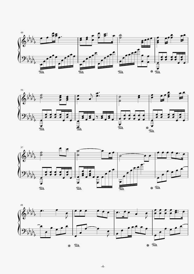 锦鲤抄钢琴谱 第4页