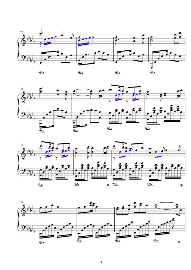锦鲤抄钢琴谱 第7页