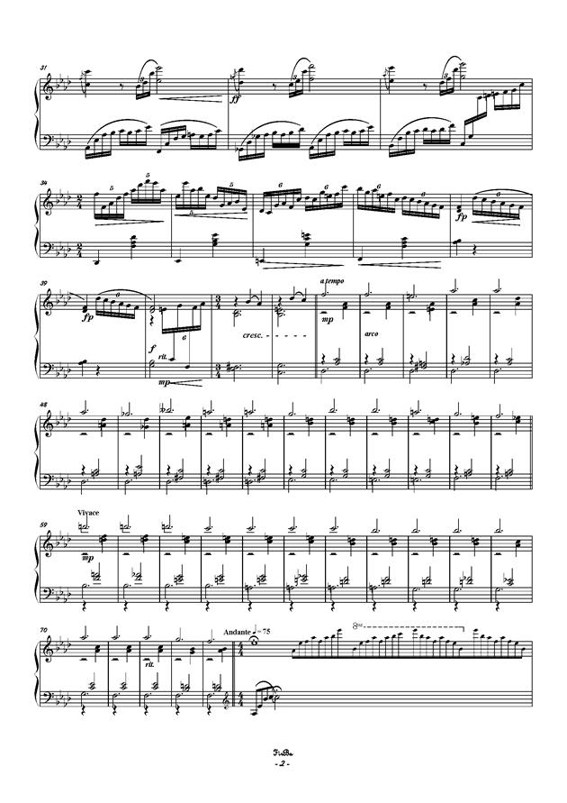 兔子之歌钢琴谱 第2页