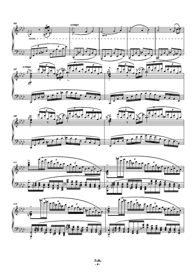 兔子之歌钢琴谱 第4页