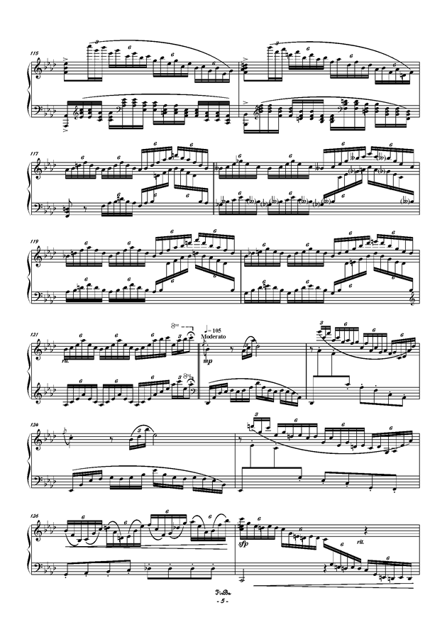 兔子之歌钢琴谱 第5页