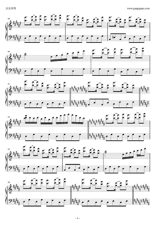 �|方三月精钢琴谱 第4页