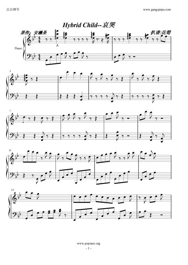 Hybrid  Child钢琴谱 第1页