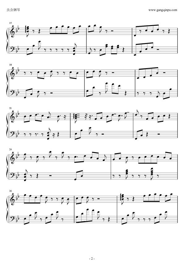 小さき心钢琴谱 第2页