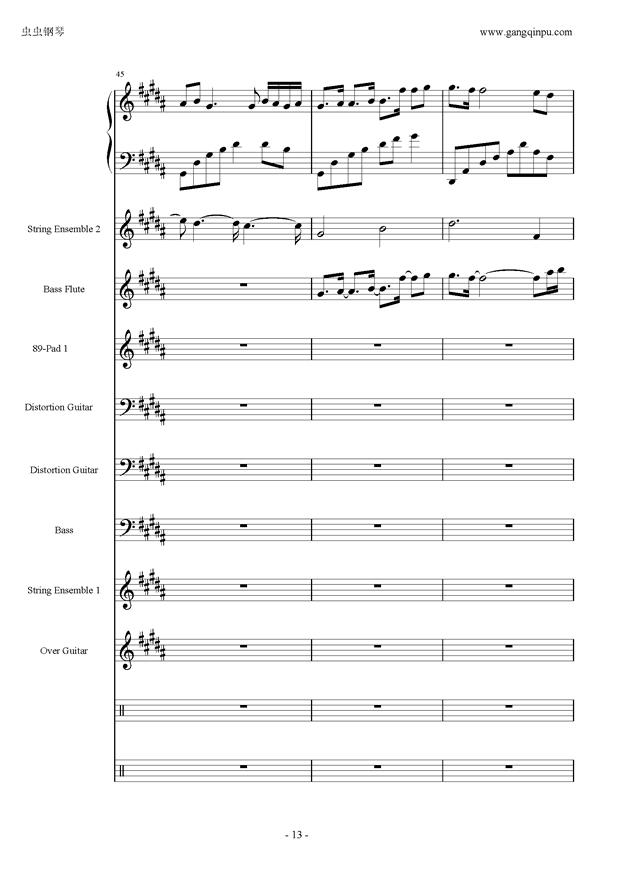 亡灵序曲钢琴谱 第13页