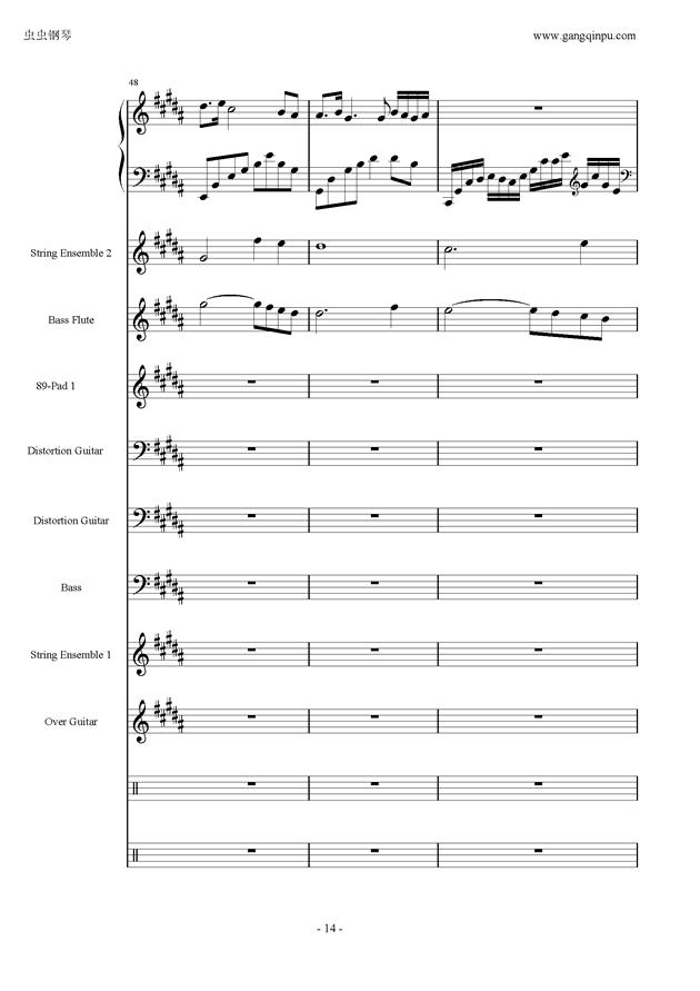 亡灵序曲钢琴谱 第14页