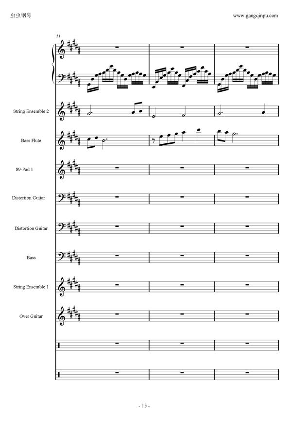 亡灵序曲钢琴谱 第15页