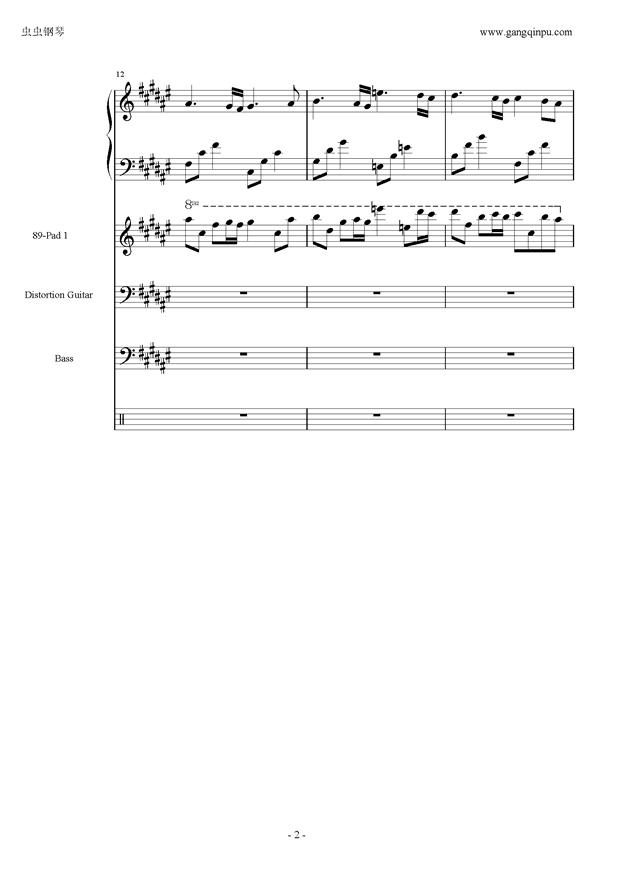 亡灵序曲钢琴谱 第2页