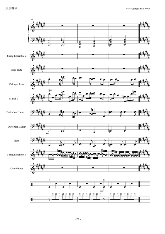 亡灵序曲钢琴谱 第22页