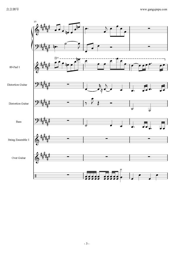 亡灵序曲钢琴谱 第3页