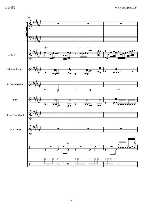 亡灵序曲钢琴谱 第4页