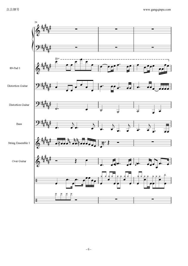 亡灵序曲钢琴谱 第6页