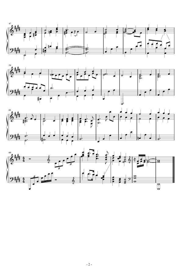 圣诞节的冬青花环钢琴谱 第2页