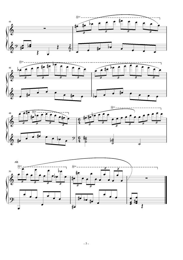雾里山妖钢琴谱 第5页