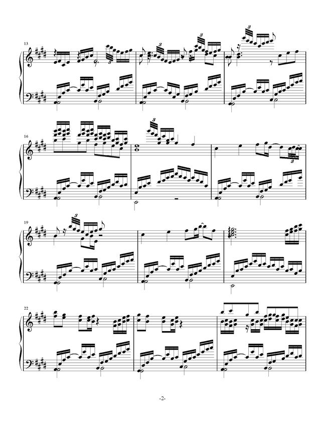 庸才日记 NO.4钢琴谱 第2页