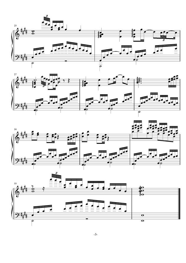 庸才日记 NO.4钢琴谱 第3页