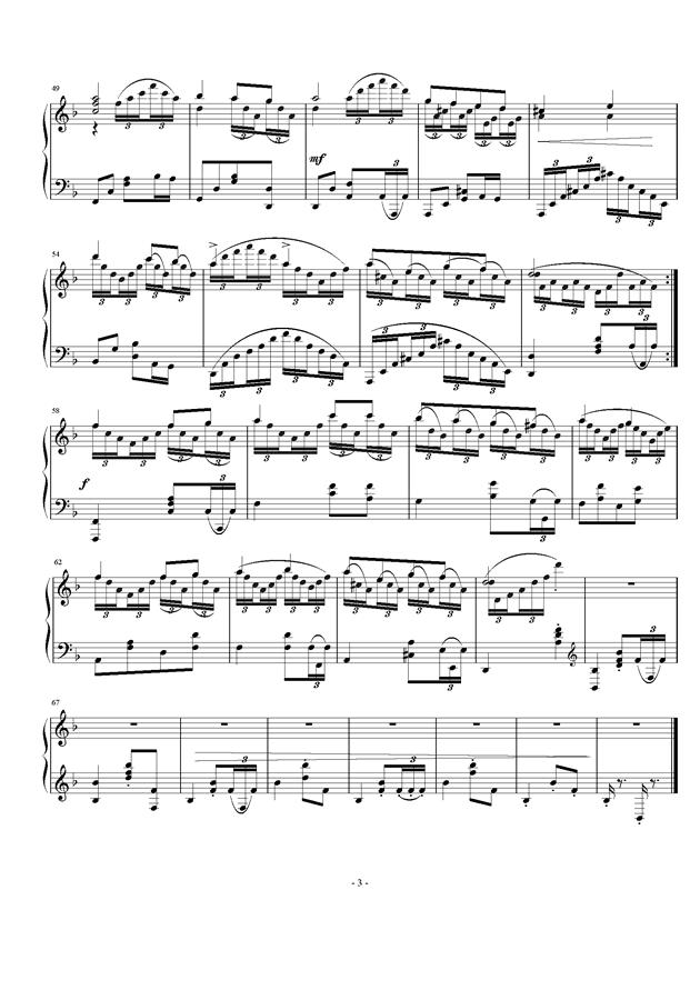 练习曲 op.24 no.3钢琴谱 第3页