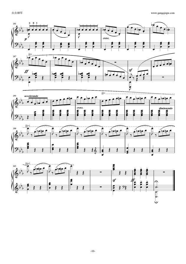 降E大调 华丽大圆舞曲 Op.18钢琴谱 第10页