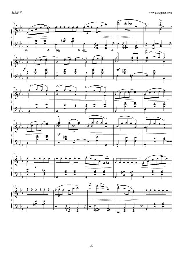 降E大调 华丽大圆舞曲 Op.18钢琴谱 第2页