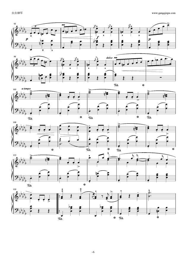 降E大调 华丽大圆舞曲 Op.18钢琴谱 第4页