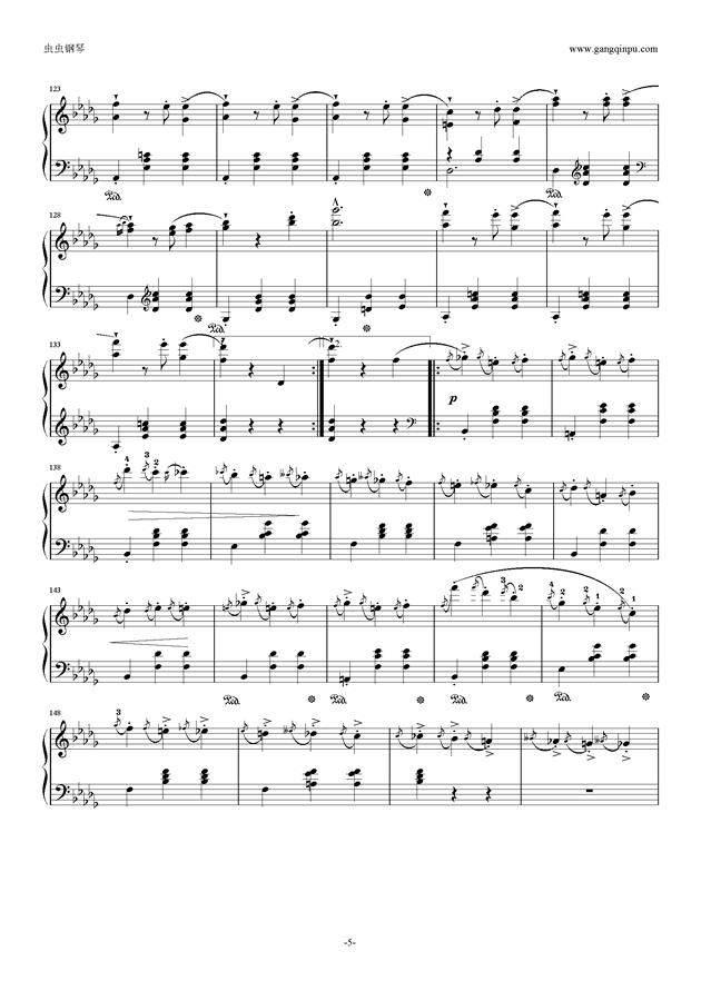 降E大调 华丽大圆舞曲 Op.18钢琴谱 第5页