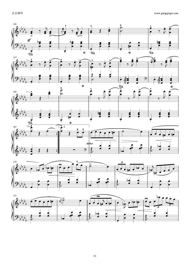 降E大调 华丽大圆舞曲 Op.18钢琴谱 第6页